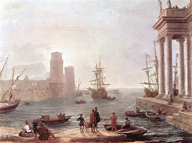 odysseus departs -calude lorrain