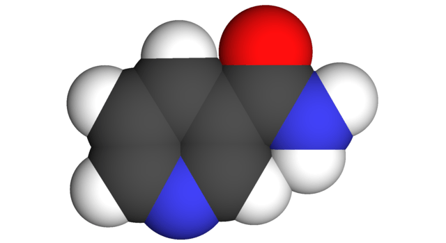 Niacinamide Spacefill Model