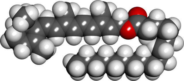 Retinyl Palmitate Spacefill Model