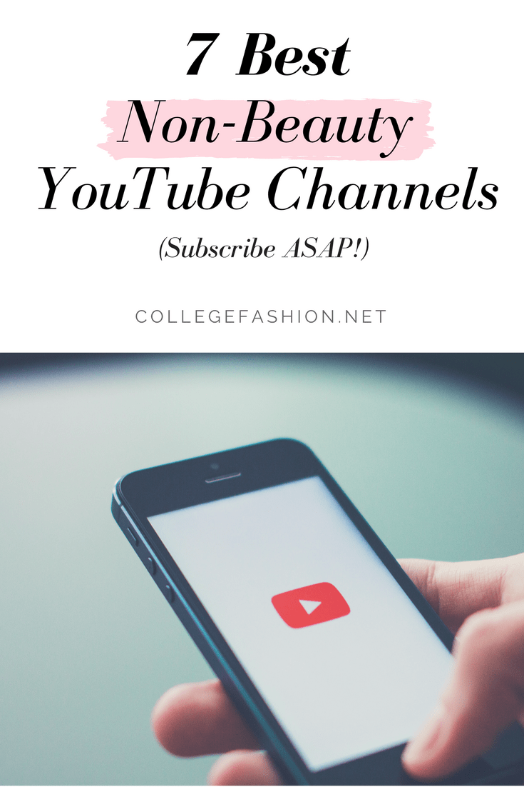 7 best non beauty Youtube channels for college women, because there's more to YouTube than just tutorials