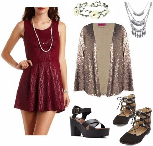 70s inspired dressy look