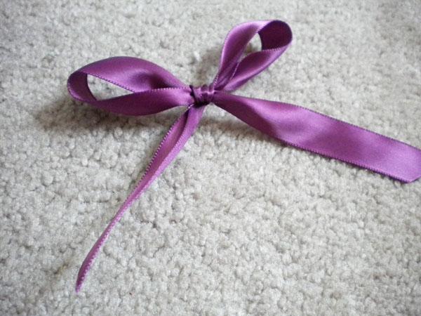 DIY knotted hair ties: Step 4