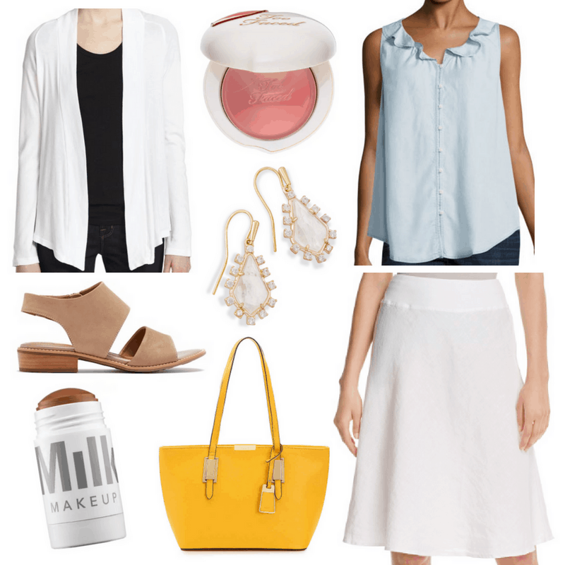 afaf6bc33f9 What To Wear To Work When It s Too Hot To Think - Linen Skirt