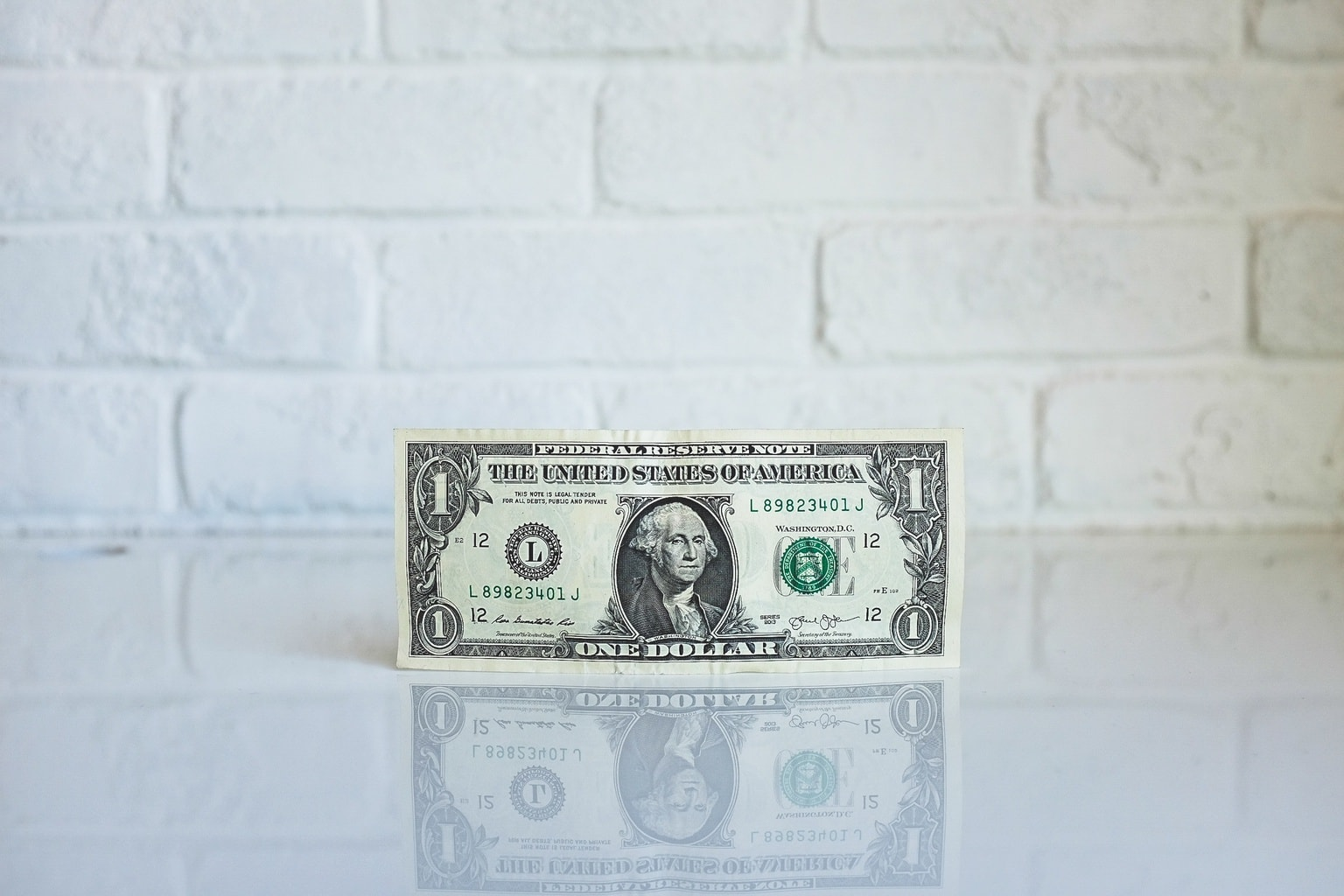 One lonely dollar bill