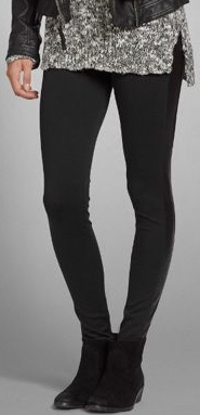 Abercrombie leather leggings