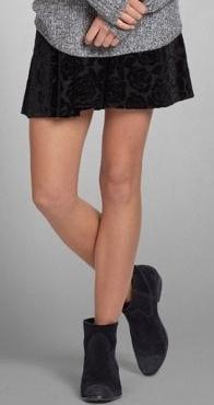 Abercrombie velvet skirt