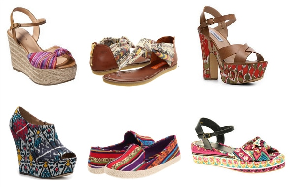abstract prints spring 2012 shoe trend