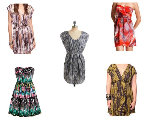 Abstract summer dresses under