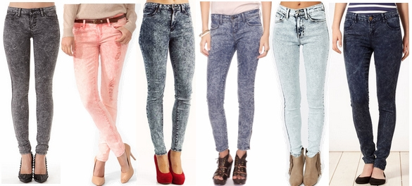 Acid Wash Jeans Fall 2012 Denim Trend
