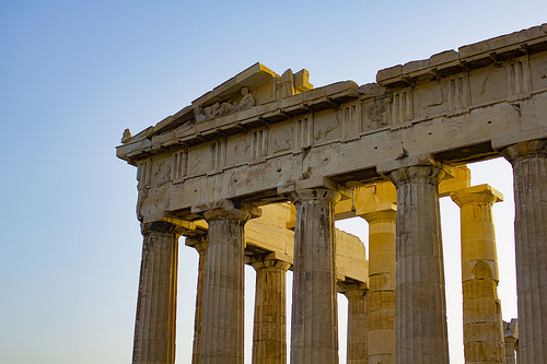 Acropolis with sunrise
