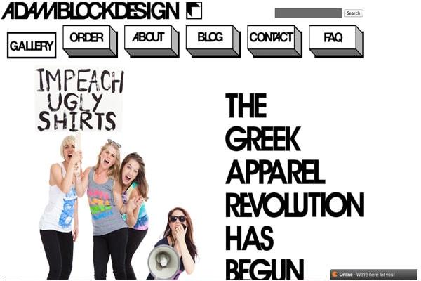 Adam Block Design Homepage