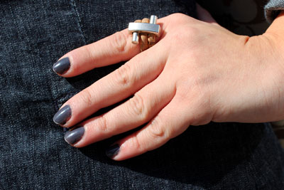 College trend: Matte gray nail polish at Point Park University