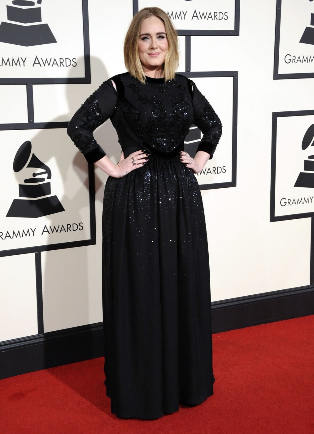 Adele in Givenchy at the 2016 Grammy Awards
