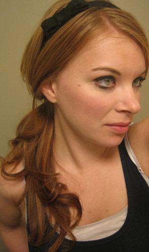 Finished product: Adele-inspired side ponytail