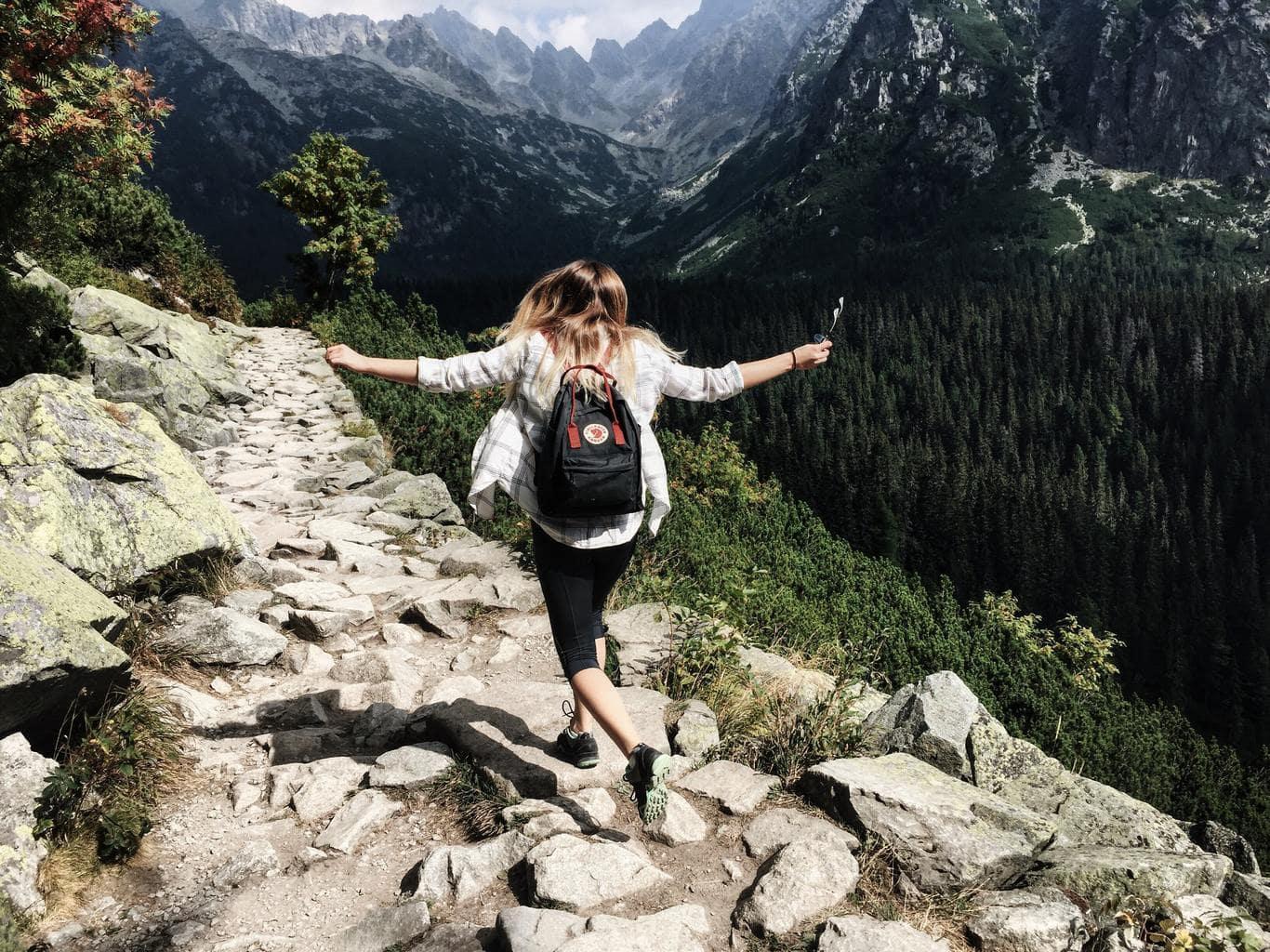 girl, outdoors, adventure, hiking