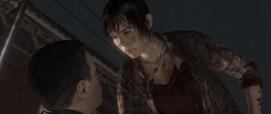 screenshot of adult jodie from beyond two souls video game