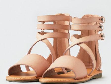 american eagle pink gladiator sandals