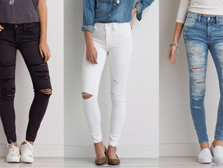 Distressed skinny jeans - AEO