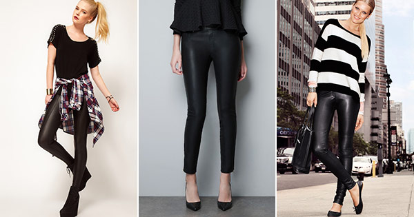 Cute and affordable faux leather leggings for fall