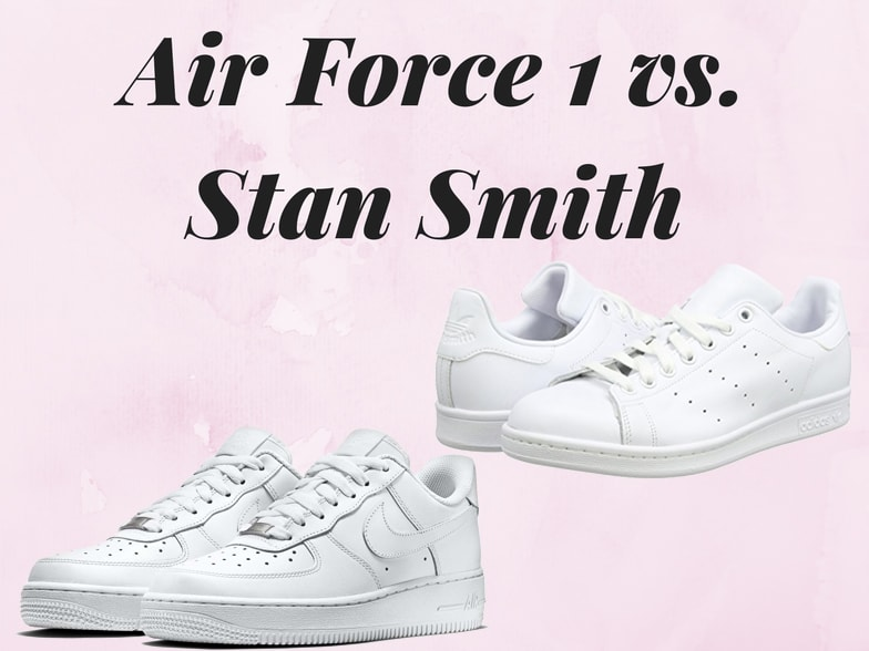 b7bf940ba1b Battle of the white sneakers  Nike Air Force 1 vs Adidas Stan Smith --