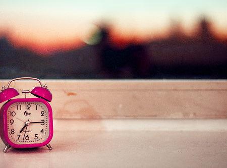 Alarm clock in the morning