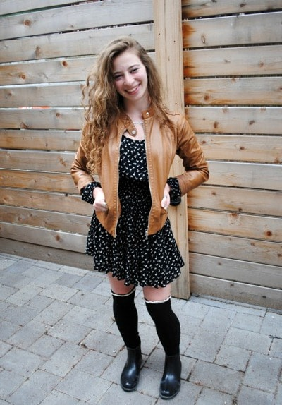 cute over-the-knee socks outfit