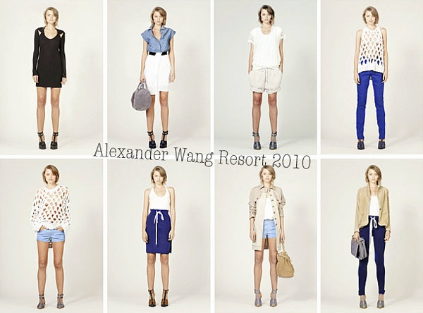 Looks from Alexander Wang's 2010 Resort collection