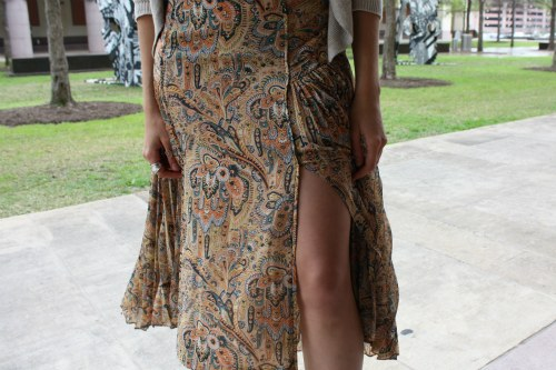 Boho skirt on Alison, a student at the University of Texas at Austin