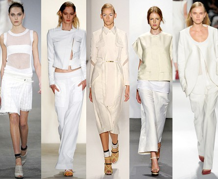 All White Looks on the Runway
