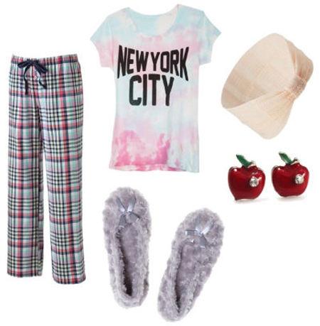 American authors nyc tee pajamas