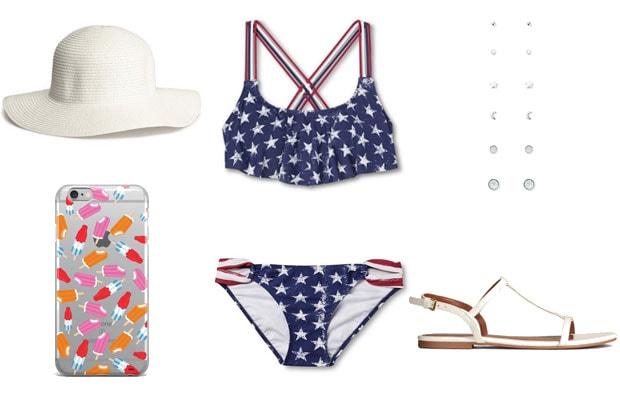 American flag bikini summer outfit