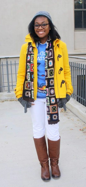 College student street fashion at American University in Washington DC
