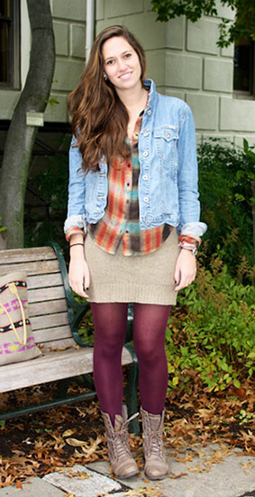 College student fall street style at American University in DC
