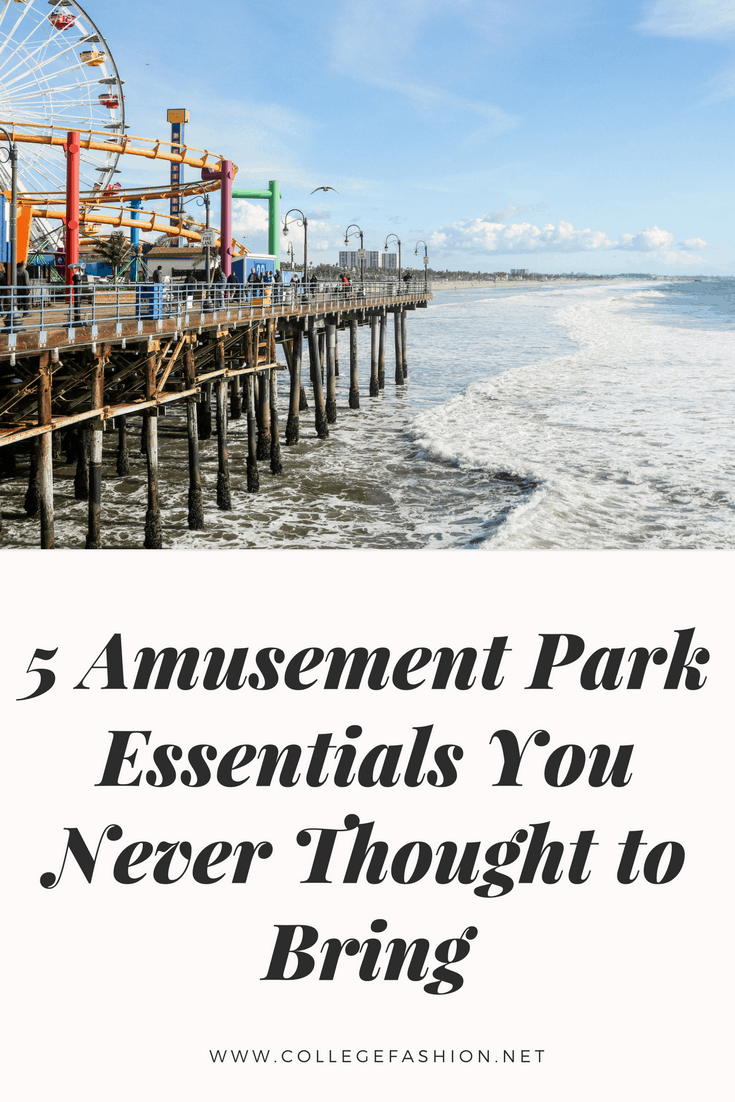 Amusement park essentials you might not think to bring with you - photo of an amusement park on a boardwalk