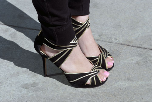 Jimmy Choo sandals as seen at UNLV