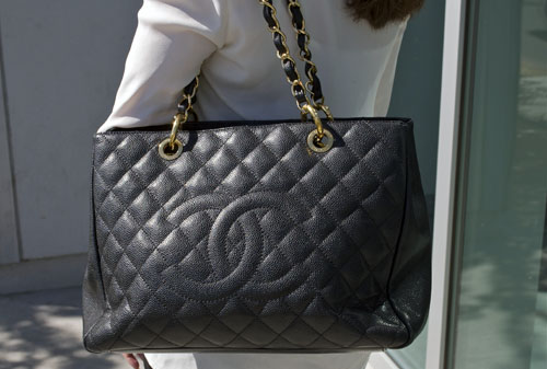 Chanel purse campus style at UNLV