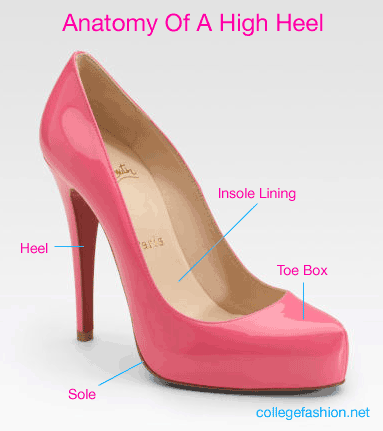 Anatomy of a high heel