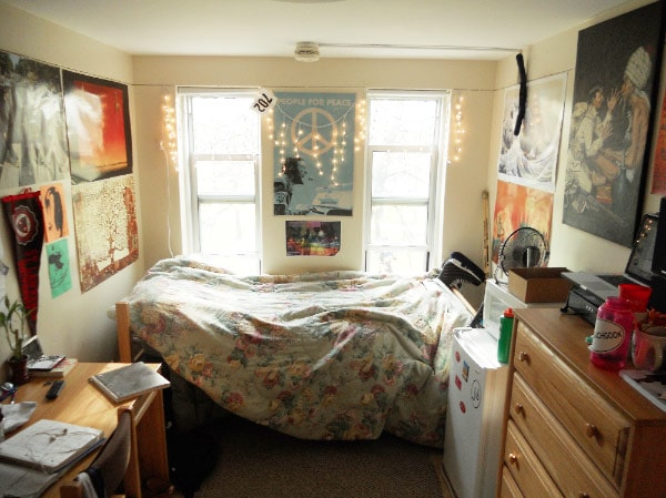 Andy's classic preppy dorm room at St. Lawrence University
