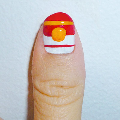Andy Warhol-inspired Manicure: Campbell's Soup Can nail step 2
