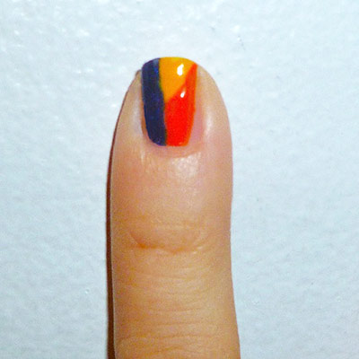 Andy Warhol-inspired Manicure: Self portrait nail step 2