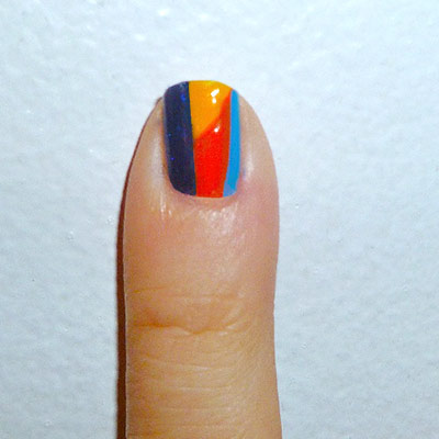 Andy Warhol-inspired Manicure: Self portrait nail step 3