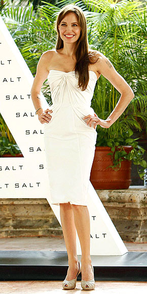 Angelina Jolie in a LWD
