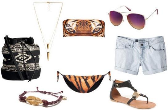 Animal graphic bikini outfit