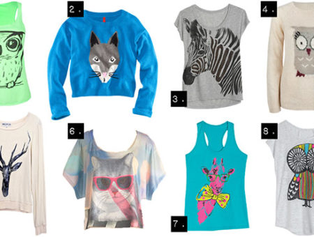 Animal graphic tops