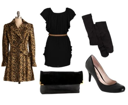 Animal Print Coat Outfit