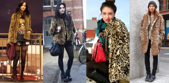 Animal Print Coat Street Style