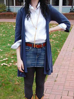 College student fashionista Ann Marie from Hendrix College modeling her fab student street style