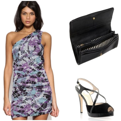 Patterned dress outfit inspired by Anna Kendrick at the MTV Movie Awards