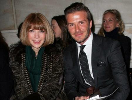 Anna Wintour and David Beckham