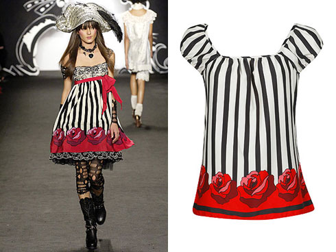 Anna Sui dress compared to Forever 21 top